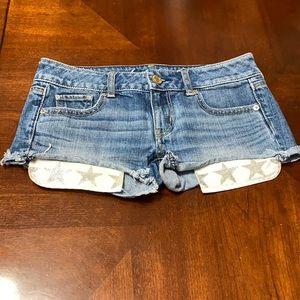 American Eagle Raw Hem Shorts